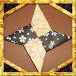 折り紙の手裏剣の折り方!2枚で簡単な作り方を紹介