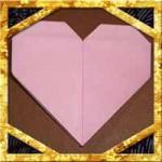 折り紙でハートの手紙の折り方!正方形の簡単な作り方を紹介