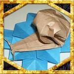 折り紙でかたつむりの折り方!簡単な立体の作り方を紹介!
