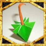 折り紙の傘の折り方!爪楊枝で簡単立体的な作り方