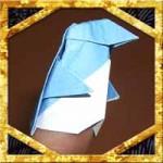 折り紙のペンギン折り方!立体的なかわいい指人形の簡単な作り方