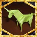 折り紙でユニコーンの折り方!少し難しい立体の作り方に挑戦