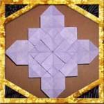 折り紙のあじさい(紫陽花)の折り方!1枚で16分割の難しい作り方