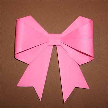 ハート 折り紙:折り紙で作るリボン-origamisho.com