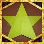 折り紙の星の超簡単な折り方!1枚で七夕飾りやクリスマスにも