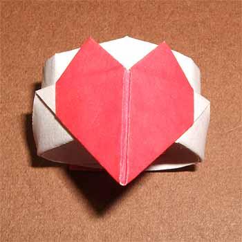 ハート 折り紙:折り紙 犬 簡単-origamisho.com