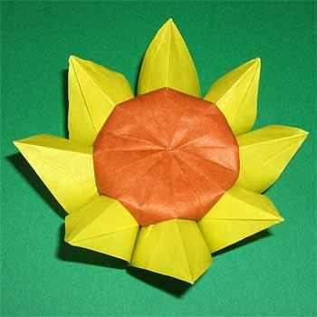 折り紙の:簡単な折り紙の折り方 花-origamisho.com