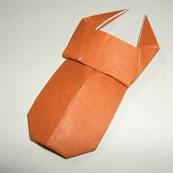 ハート 折り紙 : 折り紙クワガタの折り方 : origamisho.com