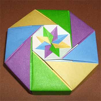 簡単 折り紙:折り紙 こま 3枚 折り方-origamisho.com