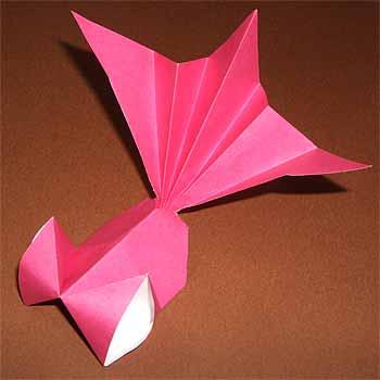 ハート 折り紙 折り紙金魚の折り方 : origamisho.com
