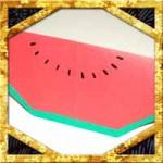 折り紙でスイカの折り方!立体風な簡単な作り方を紹介