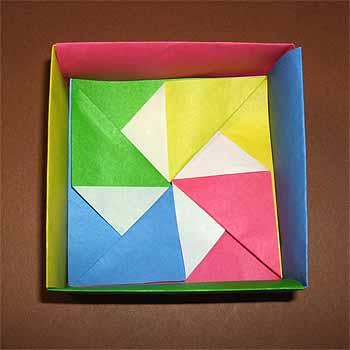 簡単 折り紙:折り紙 箱 かわいい-origamisho.com