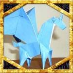折り紙でペガサスの折り方!ユニコーン土台の難しい作り方