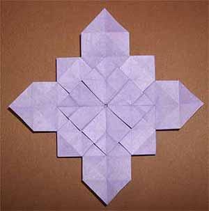 クリスマス 折り紙 あじさい 折り紙 簡単 : origamisho.com