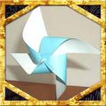 折り紙1枚で簡単風車の折り方!ストローなしで回る作り方