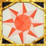 折り紙で太陽の折り方!4枚で子供も簡単な作り方