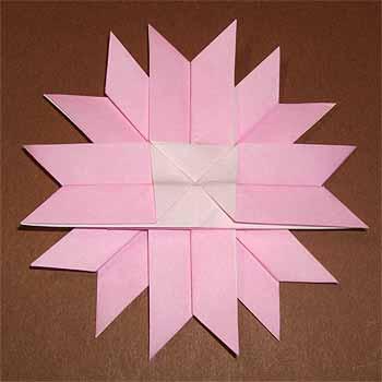 クリスマス 折り紙 折り紙コスモス作り方 : origamisho.com