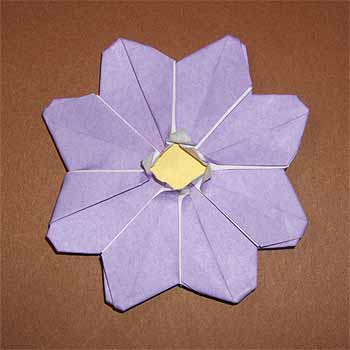 折り 折り紙:折り紙 花 立体 折り方-origamisho.com