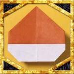 折り紙の栗の折り方!子供も簡単な平面の作り方