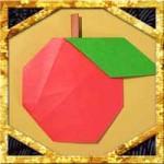 折り紙でりんごの折り方!葉っぱ付きで超簡単なリンゴの作り方
