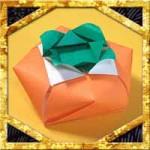 折り紙で柿の立体的な折り方!飾りに使える簡単な作り方