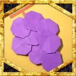 折り紙でぶどうの折り方!簡単平面なブドウの作り方