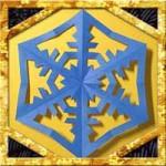 折り紙で雪の結晶の折り方作り方!簡単な切り方でクリスマスの飾りに