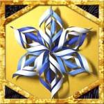 折り紙で雪の結晶の折り方!立体で簡単クリスマス飾りの作り方