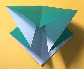 ハート 折り紙 : 折り紙ツリー立体 : origamisho.com