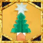 折り紙でクリスマスツリーの折り方!一枚立体的な簡単な作り方