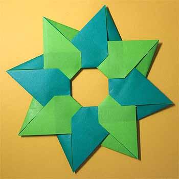 ハート 折り紙:折り紙でクリスマスリース-origamisho.com