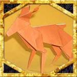 折り紙でトナカイの折り方!2枚で立体的な簡単な作り方