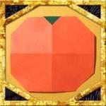 折り紙でみかんの折り方!子供も超簡単な平面な作り方
