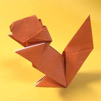 簡単 折り紙 りす 折り紙 : origamisho.com