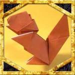 折り紙でリスの折り方!簡単かわいい立体的な作り方