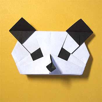 簡単 折り紙 折り紙パンダの折り方 : origamisho.com