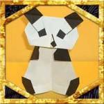 折り紙でパンダの体の簡単な折り方!顔と合わせて全身になります