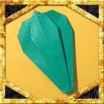 折り紙でピーマンの折り方!子供も簡単平面な野菜の作り方