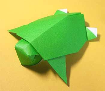 ハート 折り紙:折り紙 カメ-origamisho.com