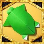 折り紙で亀の折り方!敬老の日に簡単立体的な飾りの作り方