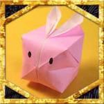 折り紙で風船うさぎの折り方!お月見簡単可愛い立体的な作り方