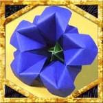 折り紙でリンドウの折り方!敬老の日に簡単立体的な作り方