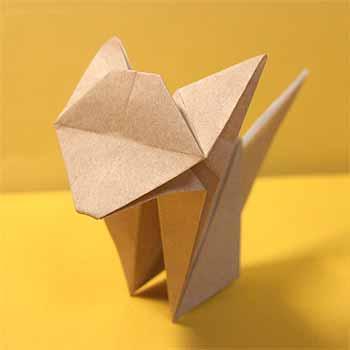 簡単 折り紙 折り紙 猫 簡単 : origamisho.com