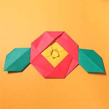 花 折り紙 折り紙 2月 : origamisho.com