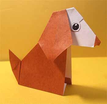 クリスマス 折り紙 折り紙 犬 折り方 : origamisho.com