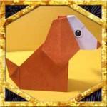 折り紙で犬の折り方!2枚で簡単立体的な作り方を紹介