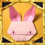 折り紙でうさぎの顔の折り方!子供も超簡単な作り方
