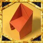 折り紙で椅子(いす)の折り方!簡単な家の家具の作り方