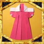 折り紙で着物の折り方!1枚で正月飾りに簡単な作り方