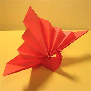 簡単 折り紙 折り紙壁飾り作り方 : origamisho.com